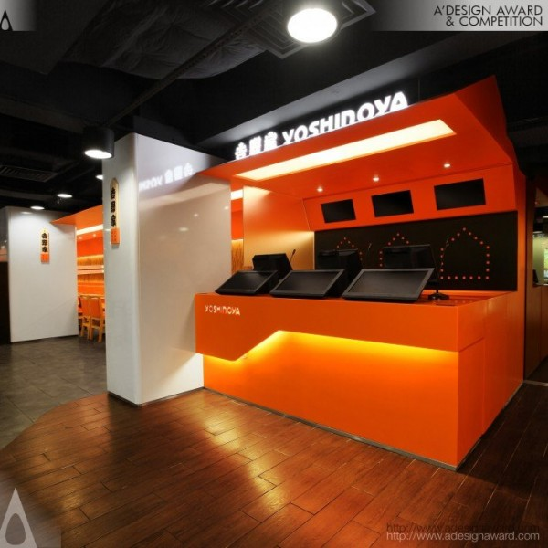 Award winning yoshinoya fast food restaurant worlds best designers Kitchen design for fast food restaurant